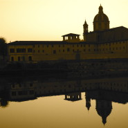 Chiesa del Cestello Florence, River Arno at sunset