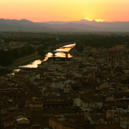 guided walk in florence at dawn