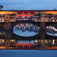 The oldest Bridge of Florence with Elena