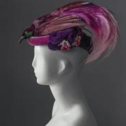 Violet hat, hats exhibition Florence