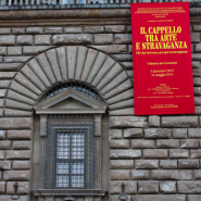 Temporary exhibition about extravagant hats in Florence